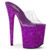 FLAMINGO-801LG Clear/Purple Glitter